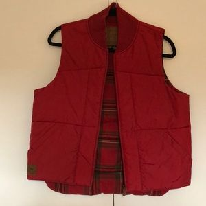 Red, unisex padded vest